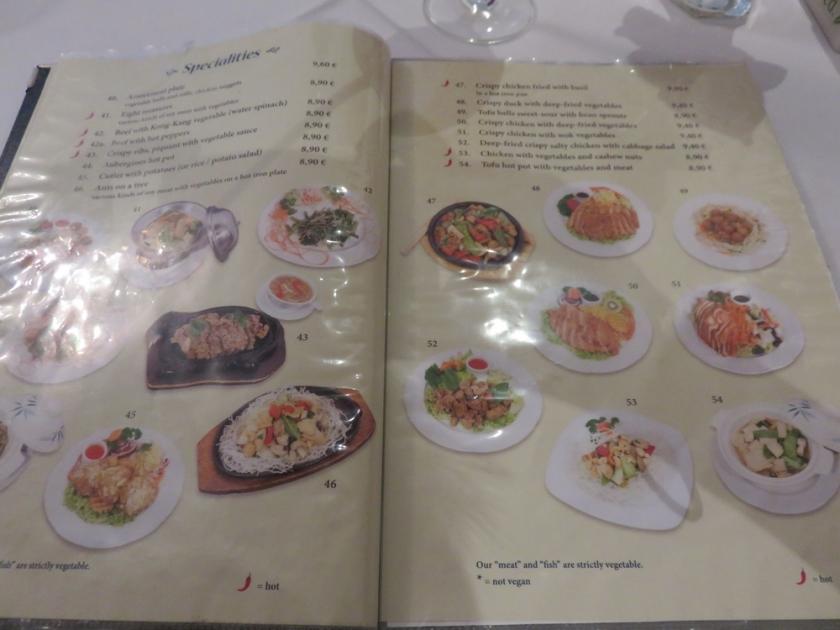 menu, Xu's Cooking, Vienna