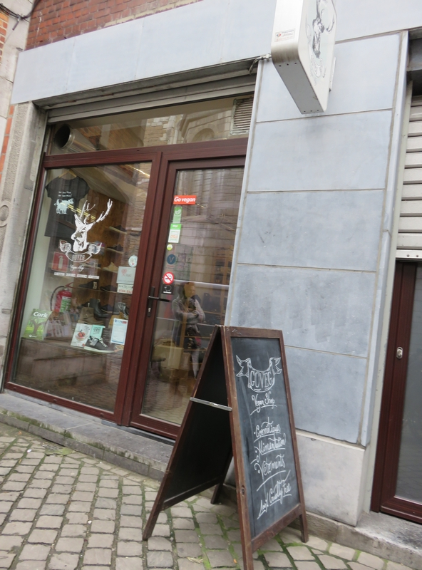 GoVeg vegan shop, Liège, front of shop