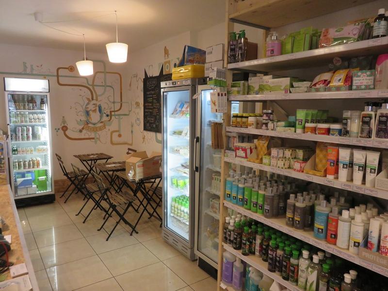 GoVeg vegan shop, Liège, interior