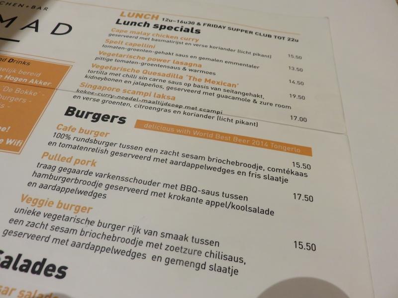 part of menu, Nomad, Bruges