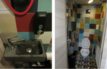 Clean toilets at La Divina Commedia, Louvain