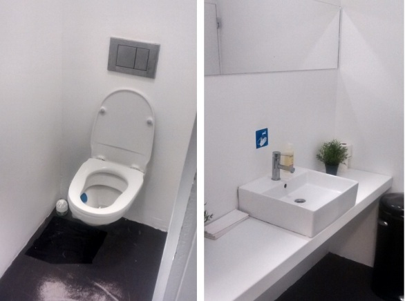 toilets at popup Foodstorms, Ghent