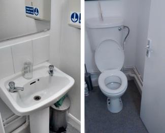 toilets at Manna, London
