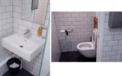 Toilets at The Gate, London, downstairs, clean and tidy