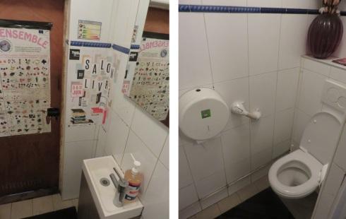Toilets at Le Potager du Marais, Paris, Fr