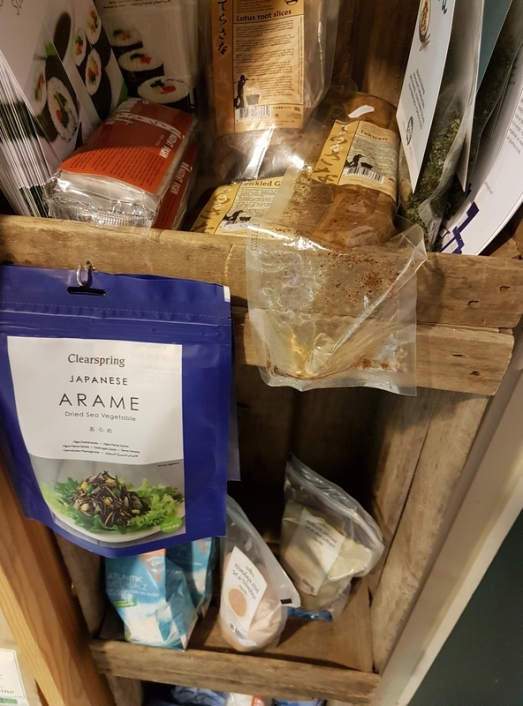 sea weeds, Japanese products, Vier de Seizoenen, Bruges