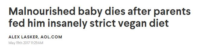 Malnourished baby dies after parents fed him insanely strict vegan diet