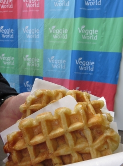 Liegeois Waffle! Veggieworld