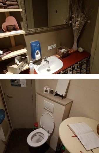 Toilet in the back, individual towels to dry one's hands, love that!, Brugsche Tafel, Bruges