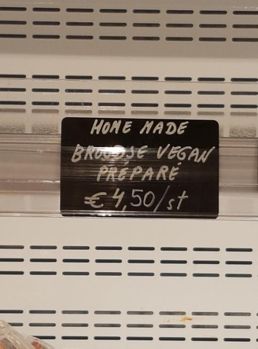 vegan préparé sandwich (was sold out), Origin'O, Bruges