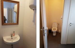 Toilets upstairs, Shalimar, Bruges